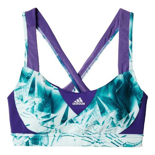 Womens adidas Go-To-Gear Supernova - Print Sports Bras - Unity Purple M