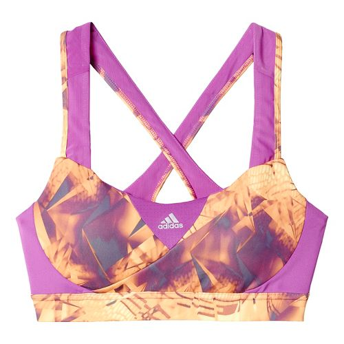 Womens adidas Go-To-Gear Supernova - Print Sports Bras - Shock Purple M