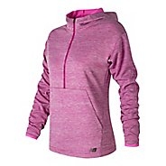 Womens New Balance Laminated Fleece Hoodie & Sweatshirts Technical Tops