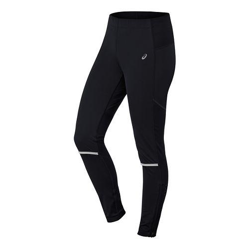 Womens ASICS Anatomic Softshell Tights & Leggings Pants - Black XS