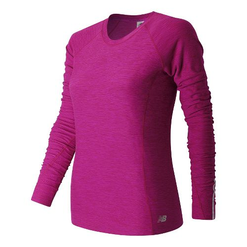 Womens New Balance In Transit Long Sleeve Technical Tops - Fusion Heather M