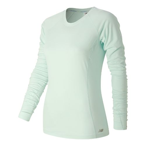 Womens New Balance In Transit Long Sleeve Technical Tops - Droplet M