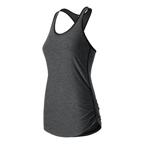 Womens New Balance Perfect Sleeveless & Tank Technical Tops - Black Heather XS