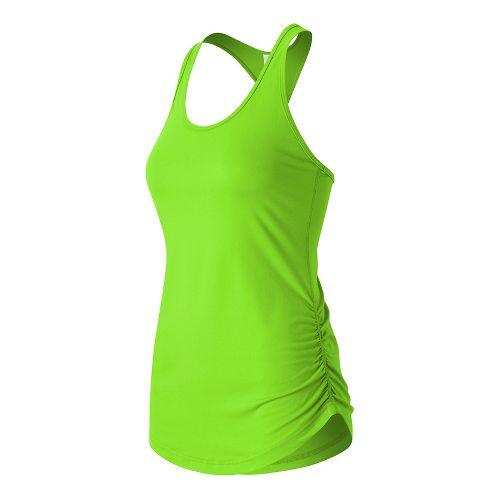 Womens New Balance Perfect Sleeveless & Tank Technical Tops - Lime Glow L