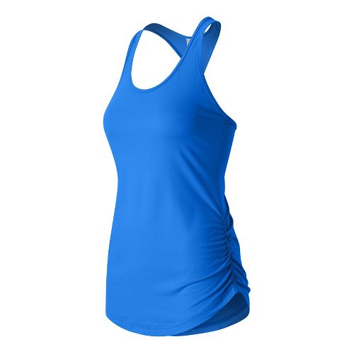 Womens New Balance Perfect Sleeveless & Tank Technical Tops - Electric Blue XS