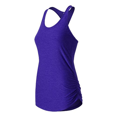 Womens New Balance Perfect Tank Technical Tops - Spectral M