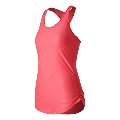 Womens New Balance Perfect Tank Technical Tops - Guava Heather S