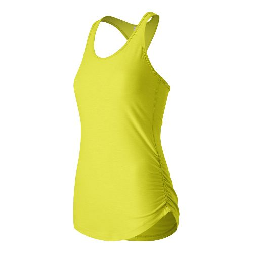 Womens New Balance Perfect Tank Technical Tops - Firefly Heather L