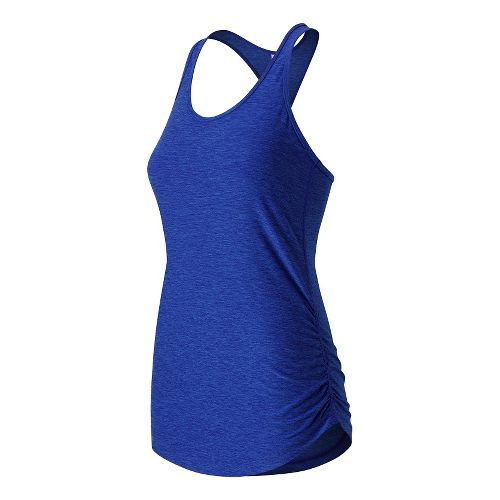 Womens New Balance Perfect Tank Technical Tops - Bluefin Heather XS