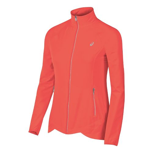 Womens ASICS Packable Rain Jackets - Orange L