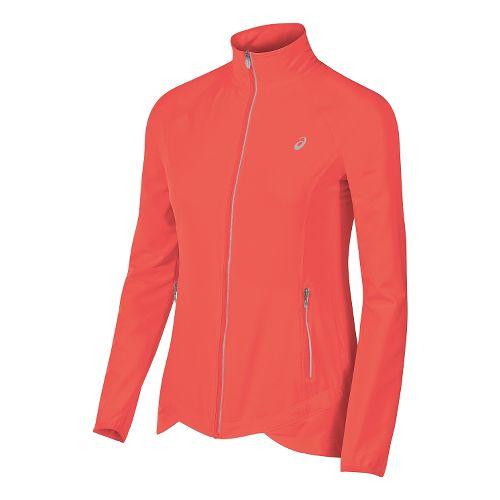 Womens ASICS Packable Rain Jackets - Orange M