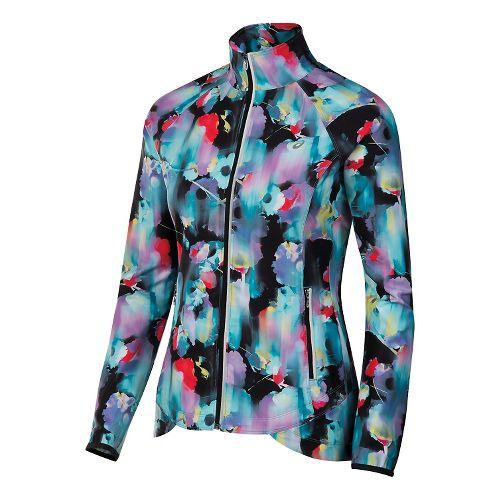 Womens ASICS Packable Rain Jackets - Floral M