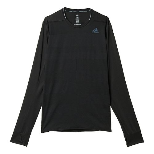 Mens adidas Supernova Tee Long Sleeve Technical Tops - Black XL