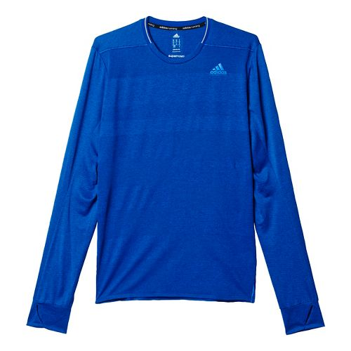 Mens adidas Supernova Tee Long Sleeve Technical Tops - Collegiate Royal L