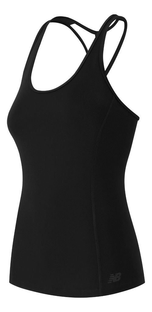 Womens New Balance Racerback Support Tops Bras - Black L