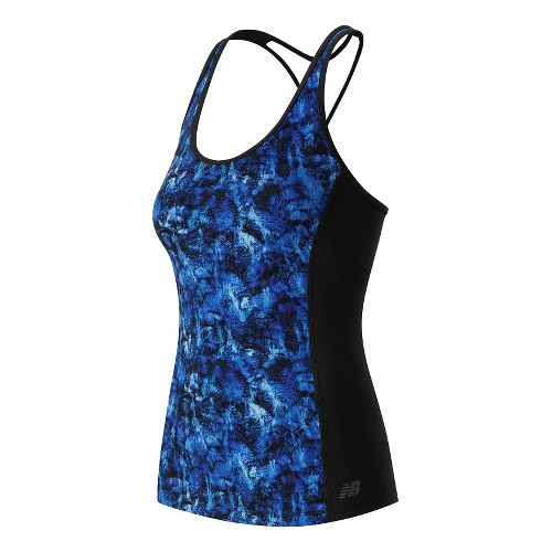 Womens New Balance Racerback Support Tops Bras - Majestic Feather Cam M