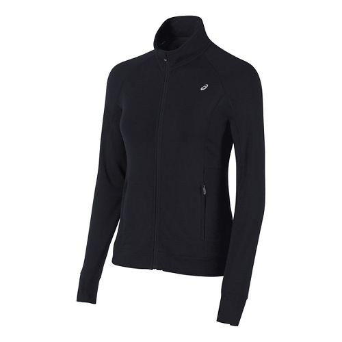 Womens ASICS Full Zip Fleece Long Sleeve Technical Tops - Black M