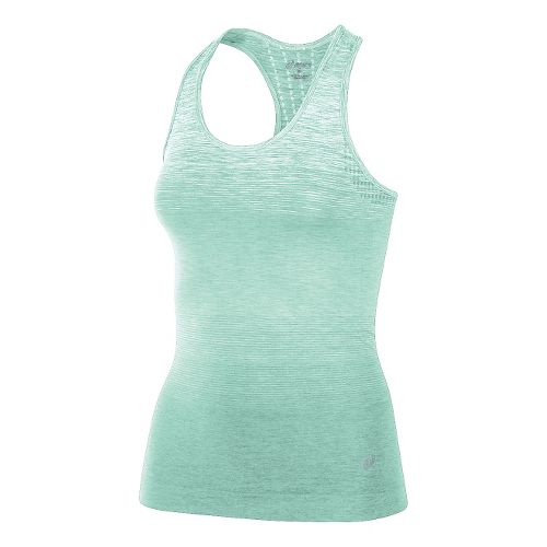 Womens ASICS Seamless Sleeveless & Tank Technical Tops - Mint Green L