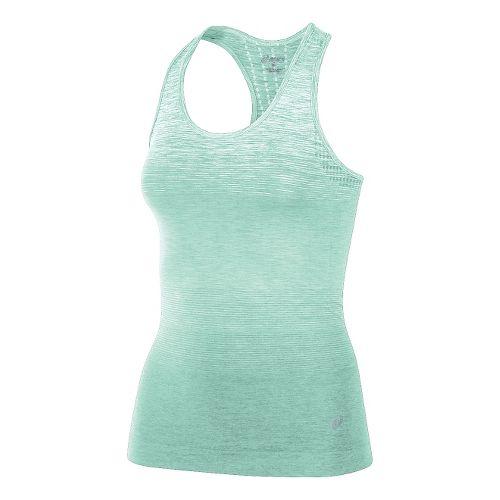 Womens ASICS Seamless Sleeveless & Tank Technical Tops - Mint Green M