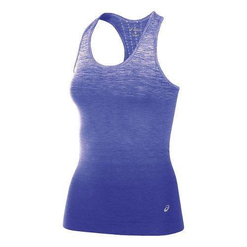 Womens ASICS Seamless Sleeveless & Tank Tops Technical Tops - Royal Blue M