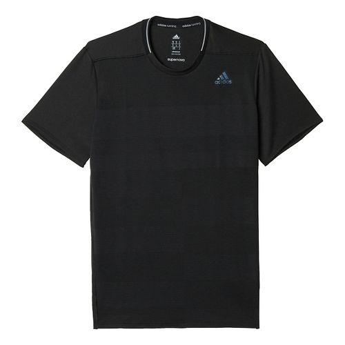 Mens adidas Supernova Tee Short Sleeve Technical Tops - Black XL