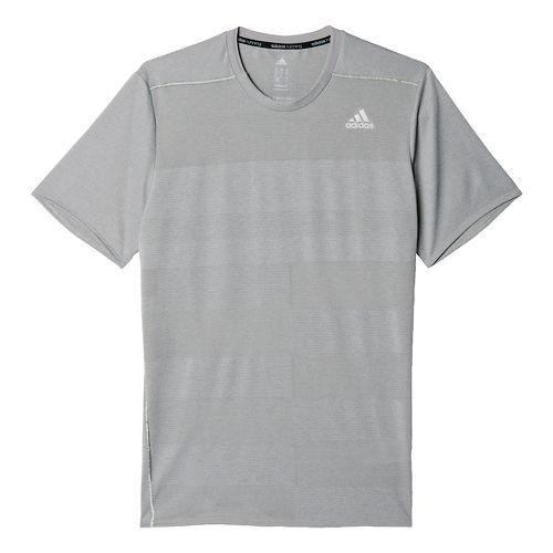 Mens adidas Supernova Tee Short Sleeve Technical Tops - Solid Grey L