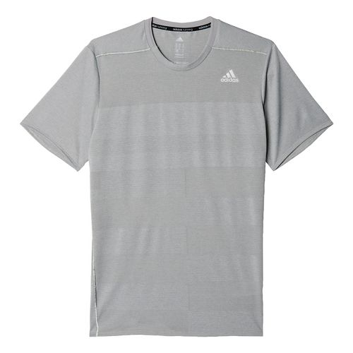Mens adidas Supernova Tee Short Sleeve Technical Tops - Solid Grey M