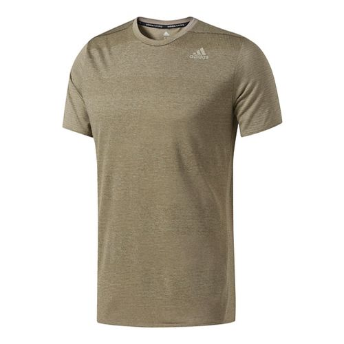 Mens Adidas Supernova Tee Short Sleeve Technical Tops - Trace Cargo XL
