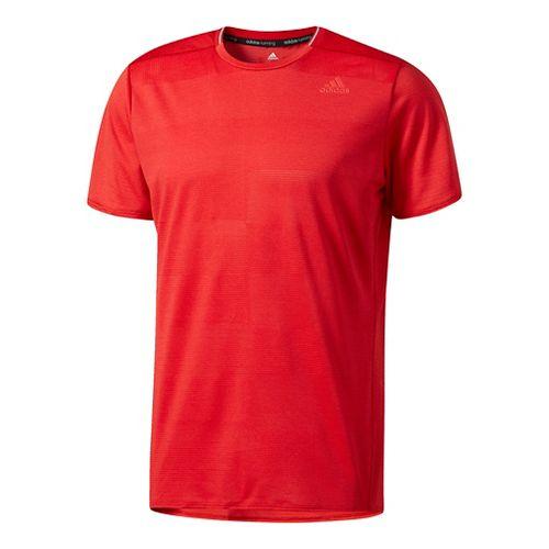 Mens Adidas Supernova Tee Short Sleeve Technical Tops - Scarlet S