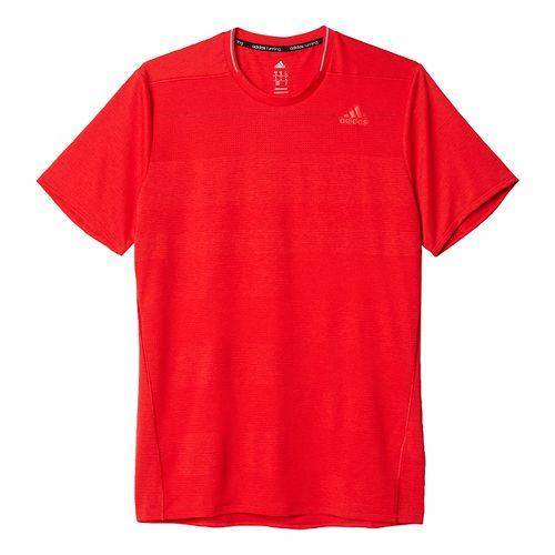 Mens adidas Supernova Tee Short Sleeve Technical Tops - Ray Red M