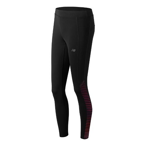 Womens New Balance Printed Accelerate Tights & Leggings Pants - Placed Digital Ovals XS