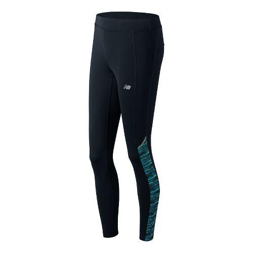Womens New Balance Printed Accelerate Tights & Leggings Pants - Castaway Multi L