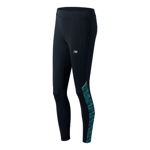 Womens New Balance Printed Accelerate Tights & Leggings Pants - Castaway Multi S