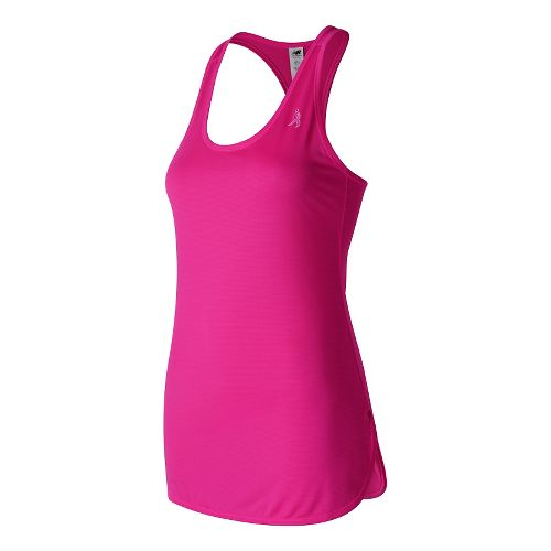 Womens New Balance Lace Up Accelerate Tunic Sleeveless & Tank Technical Tops - Alpha Pink/Black ...