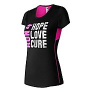 Womens New Balance Lace Up Graphic Accelerate Tee Short Sleeve Technical Tops