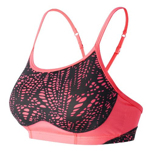 Womens New Balance The Tenderly Obsessive Print Sports Bras - Guava Print L