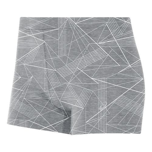 Womens ASICS Booty Compression & Fitted Shorts - Grey Skyline Print L
