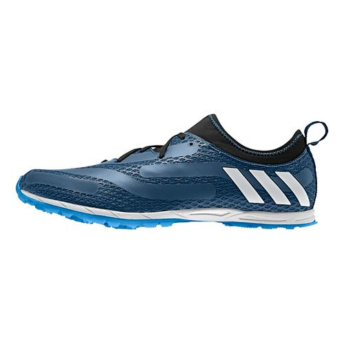 Mens adidas XCS Cross Country Shoe - Steel/White/Blue 12