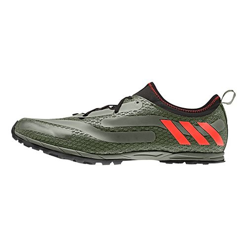 Mens adidas XCS Spikeless Cross Country Shoe - Green/Red/Black 8.5
