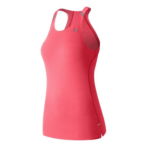 Womens New Balance Precision Run Sleeveless & Tank Technical Tops - Guava M