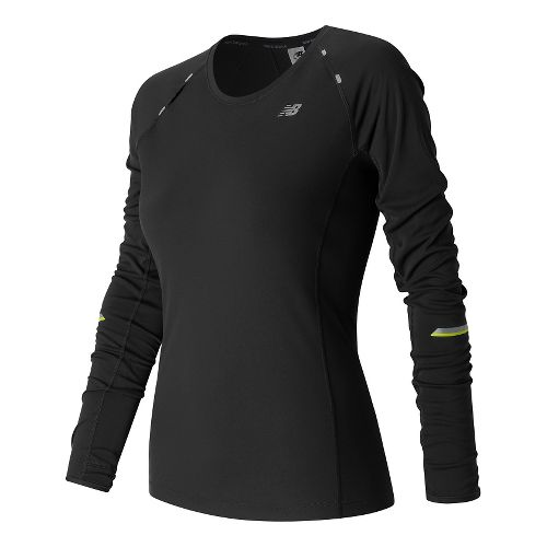 Womens New Balance NB Ice Long Sleeve Technical Tops - Black M