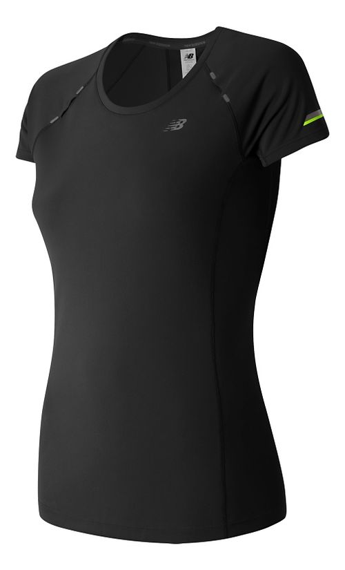 Womens New Balance NB Ice Short Sleeve Technical Tops - Black M