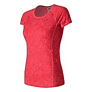 Womens New Balance NB Ice Short Sleeve Technical Tops