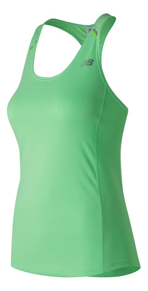 Womens New Balance NB Ice Sleeveless & Tank Technical Tops - Agave Green XS
