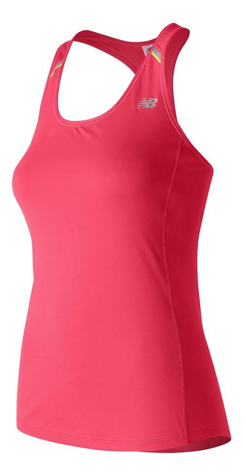 Womens New Balance NB Ice Sleeveless & Tank Technical Tops - Pomegranate L