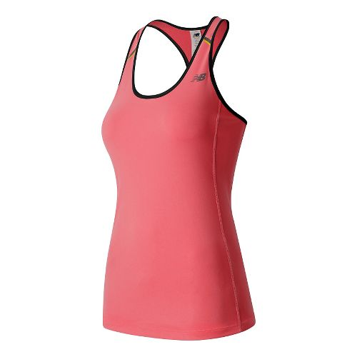 Womens New Balance NB Ice Sleeveless & Tank Technical Tops - Guava M