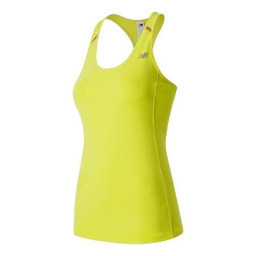 Womens New Balance NB Ice Sleeveless & Tank Technical Tops - Firefly XL