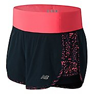 Womens New Balance Impact 4in 2-In-1 Lined Shorts