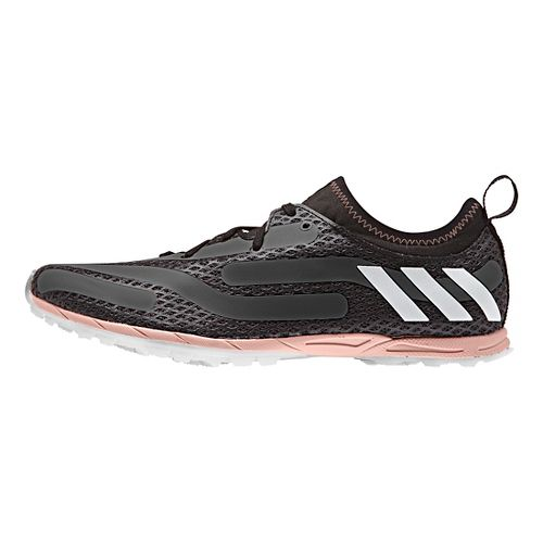 Womens adidas XCS Spikeless Cross Country Shoe - Black/Pink 8.5