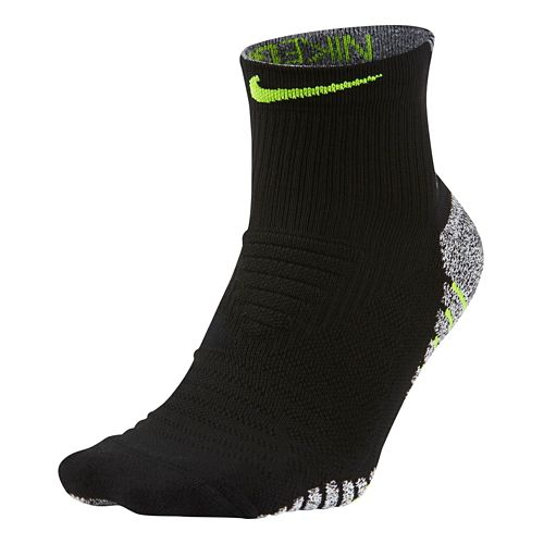 Mens Nike Grip Lightweight Mid Training Socks - Black/Volt L